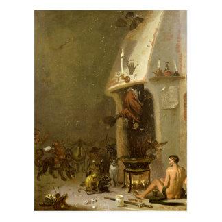 Cartão Postal A taberna de uma bruxa