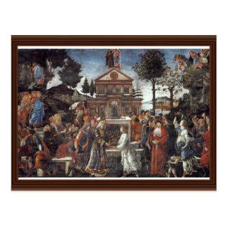 Cartão Postal A tentação do cristo por Botticelli Sandro