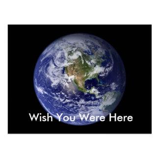 Cartão Postal A terra, deseja que você estava aqui