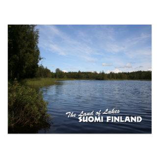 Cartão Postal A terra dos lagos: Suomi Finlandia