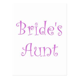 Cartão Postal A tia da noiva