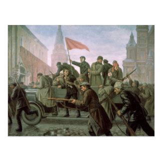 Cartão Postal A tomada da Moscovo Kremlin em 1917, 1938