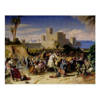 Cartão Postal A tomada de Beirute pelos cruzados
