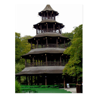 Cartão Postal A torre chinesa em Englischer Garten