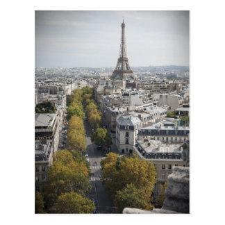 Cartão Postal A torre Eiffel em Paris (excursão Eiffel do La)