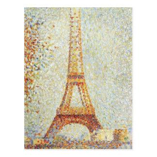 Cartão Postal A torre Eiffel por Georges Seurat