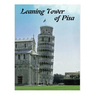 Cartão Postal A torre inclinada de Pisa