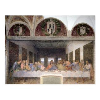 Cartão Postal A última ceia, 1495-97 3