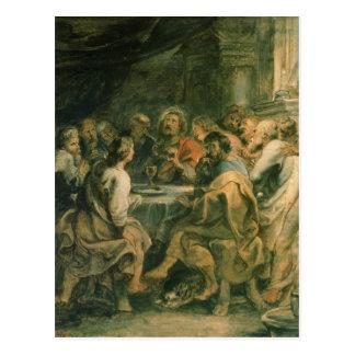 Cartão Postal A última ceia, c.1630-31