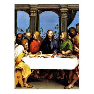 Cartão Postal A última ceia - Hans Holbein o mais novo