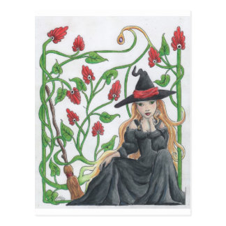 Cartão Postal A vassoura de bruxa