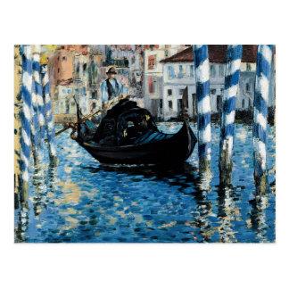 Cartão Postal À Venise - Edouard Manet do canal grande do Le