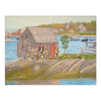 Cartão Postal A vertente do pescador da ilha de Bailey