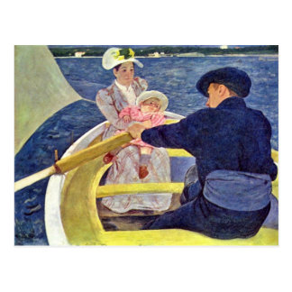 Cartão Postal A viagem do barco por Cassatt Mary (a melhor