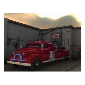 Cartão Postal A viatura de incêndio
