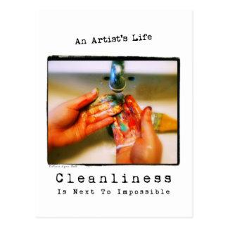 Cartão Postal A vida de um artista: Fotografia da limpeza