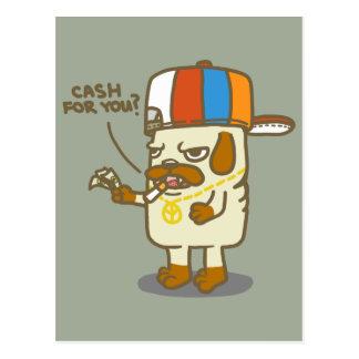 Cartão Postal A vida do Pug