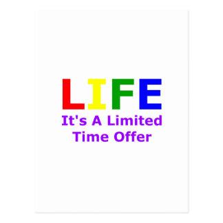 Cartão Postal A vida é curta