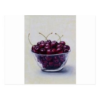 Cartão Postal A vida é uma bacia de cerejas