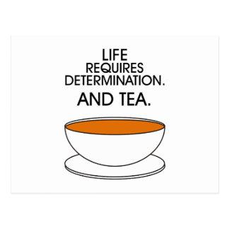 Cartão Postal A vida exige a determinação. E chá. (© Mira)