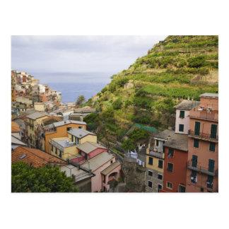 Cartão Postal a vila de montanhês de Manarola-Cinque Terre,