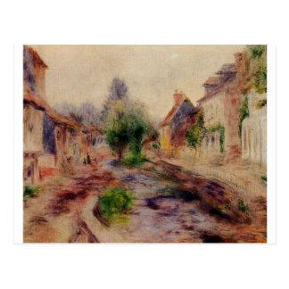 Cartão Postal A vila por Pierre-Auguste Renoir