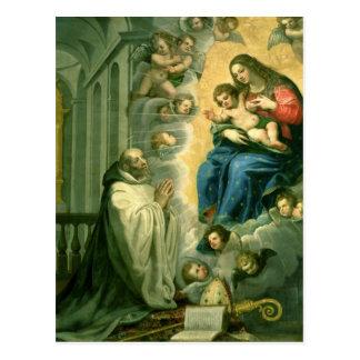 Cartão Postal A visão de St Bernard, 1634