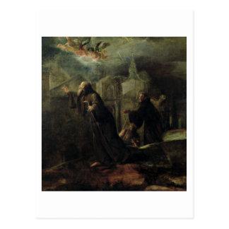 Cartão Postal A visão de St Francis de Paola