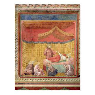 Cartão Postal A visão do papa Gregory IX 1297-99