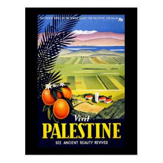 Cartão Postal A visita Palestina considera a beleza antiga