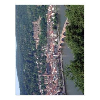 Cartão Postal A vista de Heidelberg, Alemanha satisfaz créditos