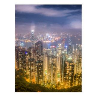 Cartão Postal A vista de Hong Kong do pico