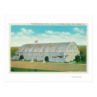 Cartão Postal A vista exterior do Hershey ostenta a área