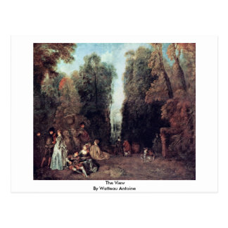 Cartão Postal A vista por Watteau Antoine