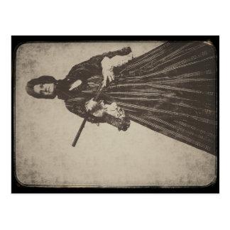 Cartão Postal a viúva