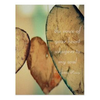 Cartão Postal A voz de seu coração sussurra a minha alma