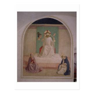 Cartão Postal A zombaria do cristo com o Virgin e o St. Domi