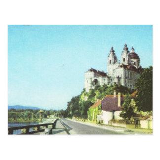 Cartão Postal Abadia de Áustria do vintage de Melk, Wachau,