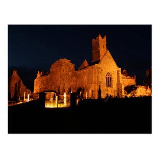 Cartão Postal Abadia de Quin na noite