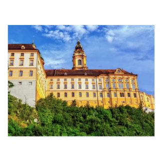Cartão Postal Abadia do licor beneditino, Melk, Áustria
