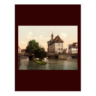 Cartão Postal Abaixe a ponte e a câmara municipal Bamberga
