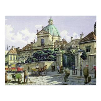 Cartão Postal Abaixo do palácio do Belvedere em Viena