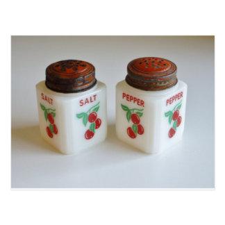 Cartão Postal Abanadores de sal e de pimenta do vintage