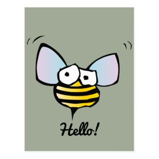 Cartão Postal Abelha alegre feliz