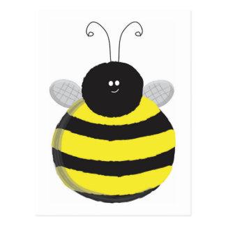 Cartão Postal Abelha bonito carnudo feliz da abelha