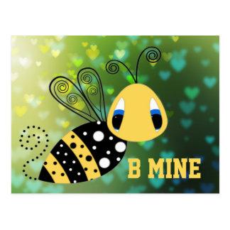 Cartão Postal Abelha da bolha da mina de B
