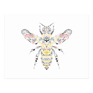 Cartão Postal abelha de rainha