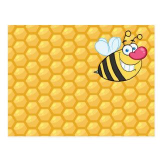 Cartão Postal Abelha do pente do mel