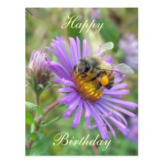 Cartão Postal Abelha em artigos de coordenação do aniversário