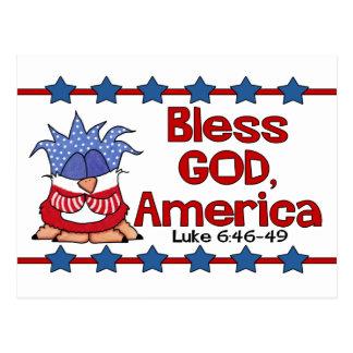 Cartão Postal Abençoe o deus, 6:46 de América Luke - 49-Birds de